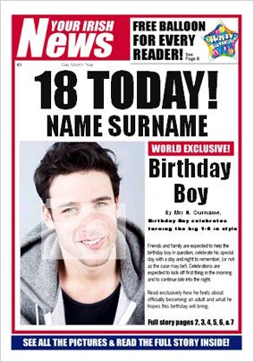 Irish News - His 18th Birthday
