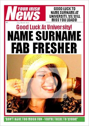 Irish News - Fab Fresher