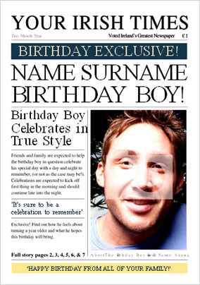 Irish Times - Birthday Boy