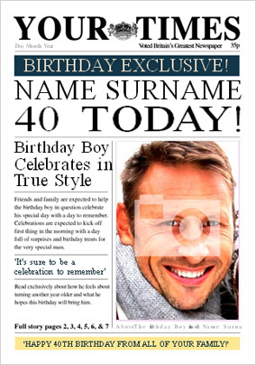 Your Times - His 40th