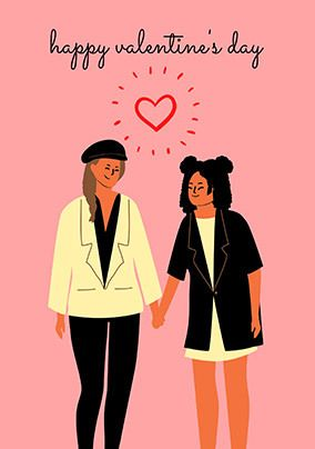 Cute Couple Valentine's Personalised Card