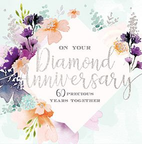 Diamond Anniversary Floral Card