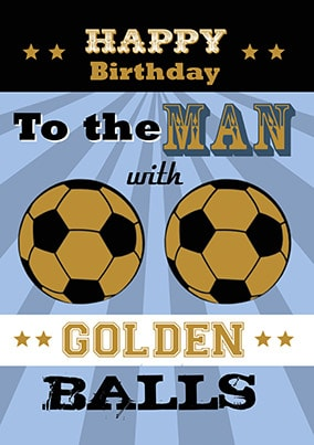 Happy Birthday Golden Balls Card