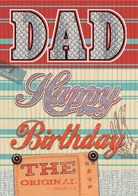 Dad Happy Birthday Card