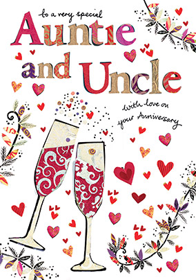 Auntie and Uncle Anniversary Card
