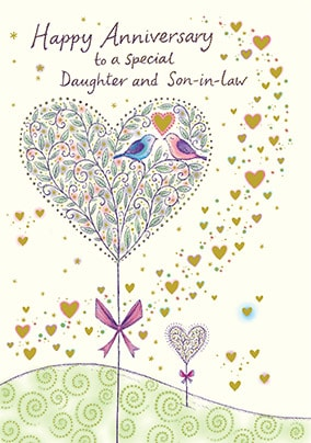 Daughter Son In Law Anniversary Cards Funky Pigeon