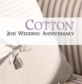 2nd Wedding Anniversary Card Cotton