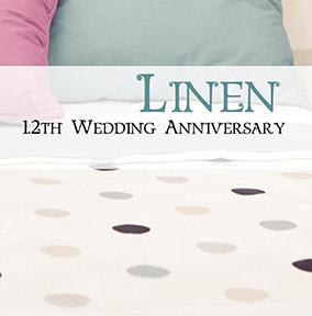 Wedding Anniversary Card Linen