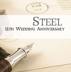 11th Wedding Anniversary Card - Steel
