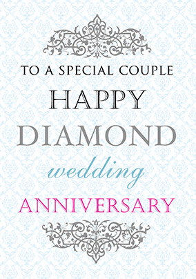 Diamond Wedding Anniversary Card - Truly Madly Deeply