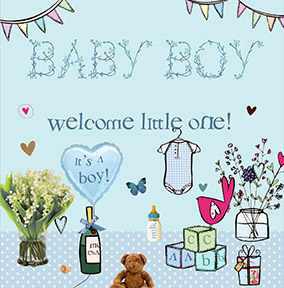 Baby boy congratulations card welcome funky pigeon baby boy congratulations card welcome m4hsunfo