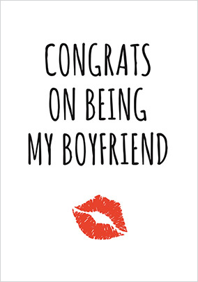 Congrats on Being my Boyfriend Card