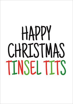 Happy Christmas Tinsel Tits Card