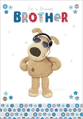 Cool Dog Brother Birthday Card