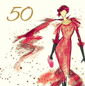 Fashion Show 50th Birthday Card