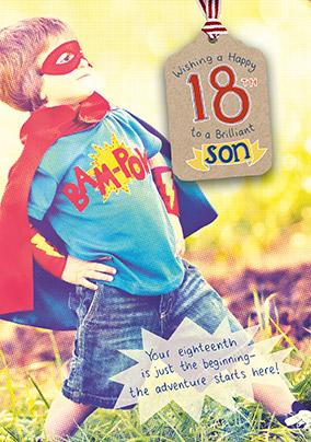 Brilliant Son 18th Birthday Card
