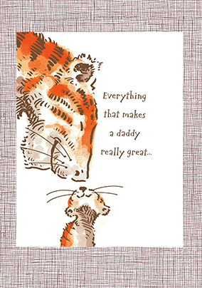 Daddy Is Really Great Tiger Birthday Card