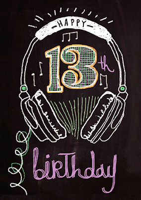 Chalk & Cheese 13th Birthday Card