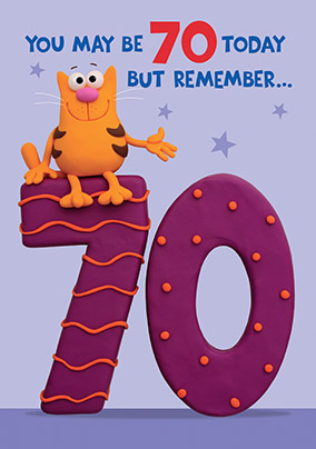 Remember 70th Birthday Card YES Preview Image Is Not Found
