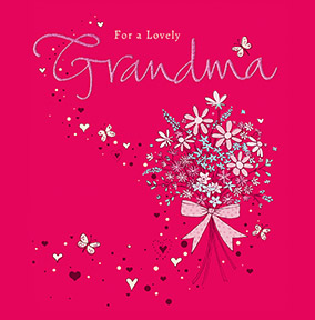 Dazzling Grandma Birthday Card