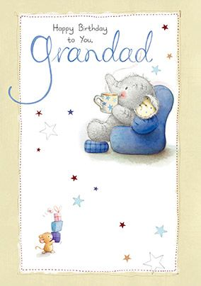 Happy Birthday Grandad Elephant Birthday Card