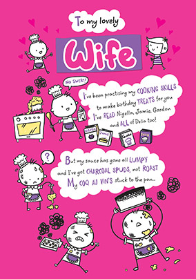 to my lovely wife birthday card yes preview image is not found