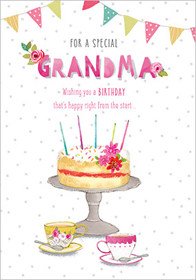 Tea And Cake Special Grandma Birthday Card