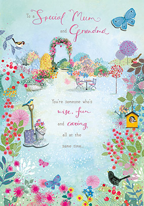 Secret Garden Special Mum Grandma Birthday Card