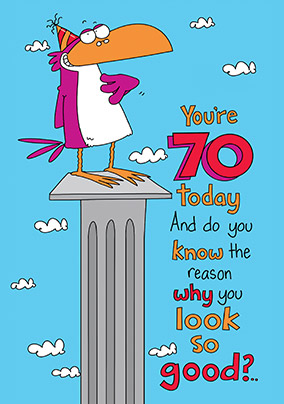 70th Funny Birthday Card