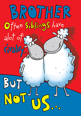Sibling Rivalry Brother Birthday Card YES Preview Image Is Not Found