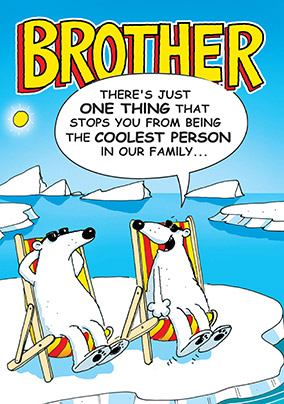 Polar Bear Brother Birthday Card