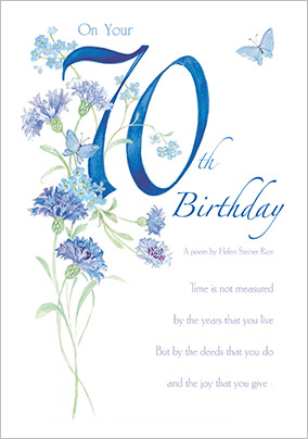 Traditional 70th Birthday Card