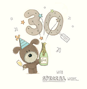 Lots of Woof 30th Birthday Card - Fizz