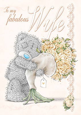 Send birthday cards for wife funky pigeon me to you tatty teddy birthday card fabulous wife m4hsunfo