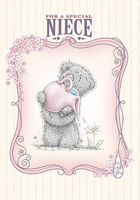 Me To You Tatty Teddy Niece Birthday Card