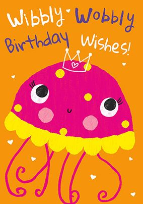 Jelly Fish Birthday Wishes Card