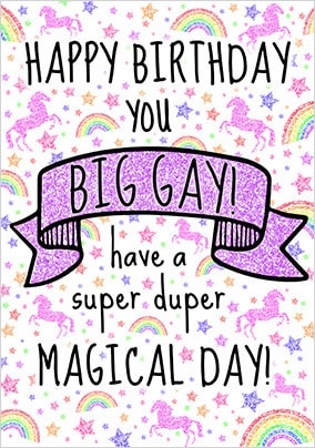 Big Gay Birthday Card