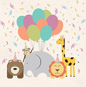 Animal Magic Birthday Card