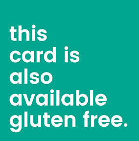 Available in Gluten Free Urban Love Birthday Card
