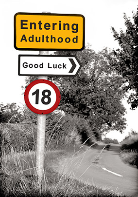 Road Sign 18th Birthday Card YES Preview Image Is Not Found