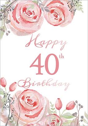 40th Birthday Cards - Buy & Send | Funky Pigeon