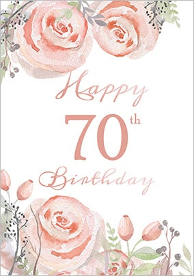 Floral Boutique 70th Birthday Card