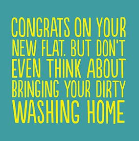 Dirty Washing New Home Card