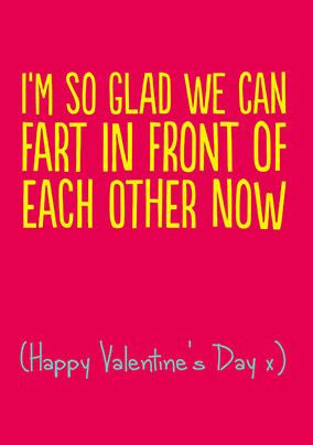 Fart in Front of Each Other Valentine's Card
