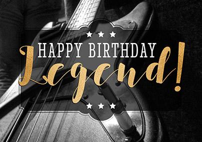 Guitar Legend Birthday Card