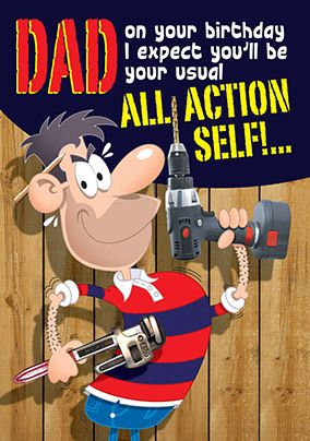 All Action Fathers Day Card