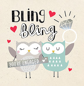 Bling Bling Engagement Card