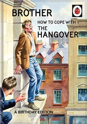 Brother Birthday Hangover - Ladybird Card