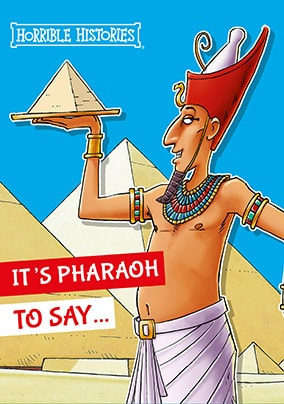 Horrible Histories Egyptian Card