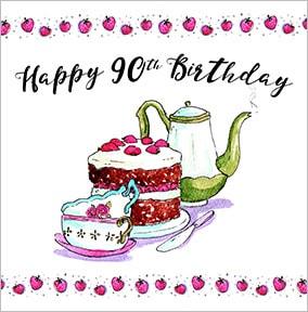 90Th Birthday Cake Clipart
